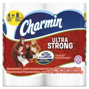 Charmin Ultra Strong Toilet Paper, 2 Ply, 4 Rolls/Pack (PGC94106)
