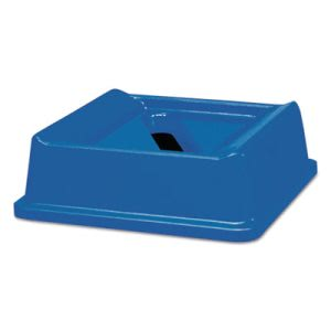 Rubbermaid 2794 Untouchable Slotted Recycling Lid, Blue, 4 Lids (RCP2794BLUCT)