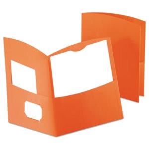 Oxford Two-Pocket Recycled Paper Folder, 100-Sheet Capacity, Orange (OXF5062580)