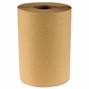 Boardwalk 350 ft Brown Hard Roll Paper Towels, 12 Rolls (BWK6252)
