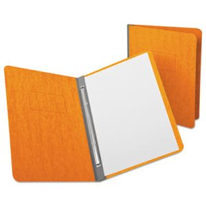 "Oxford Report Cover, Prong Clip, Letter, 3"" Capacity, Tangerine (OXF12731)"