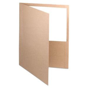 Earthwise By Oxford Earthwise 100% Recycled Paper Twin-Pocket Portfolio, Natural (OXF78542)