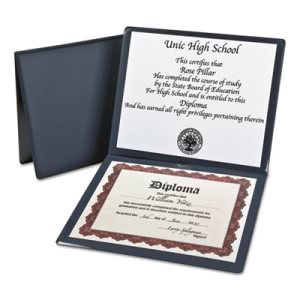 Oxford Diploma Cover, 12-1/2 x 10-1/2, Navy (OXF44212)