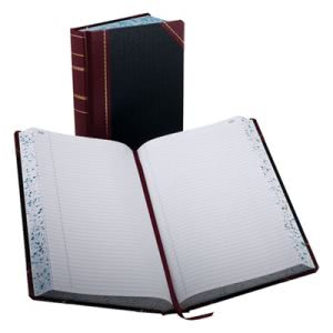 Boorum Account Book, Black/Red, 500 Pages, 14 1/8 x 8 5/8 (BOR9500R)