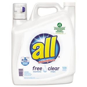 ALL Free & Clear 2x Liquid Laundry Detergent, Unscented, 2 Bottles (DIA46139)
