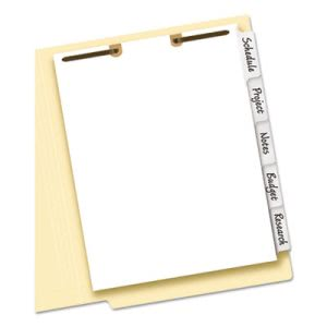 Avery Big Tab Classification Folder Dividers, 5-Tab, 11 x 8 1/2 (AVE13160)