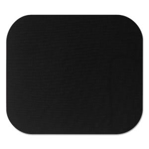 Fellowes Polyester Mouse Pad, Nonskid Rubber Base, 9 x 8, Black (FEL58024)