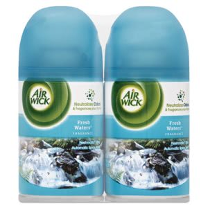 Air Wick FreshMatic Ultra Spray Refill, Fresh Waters, 6 Cans (RAC82093CT)
