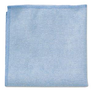 Rubbermaid Commercial Microfiber Cleaning Cloths, Blue, 24 Cloths (RCP 1820583)