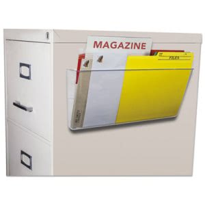 Storex Magnetic Wall File, Letter/Legal, Single Pocket, Clear (STX70325U06C)