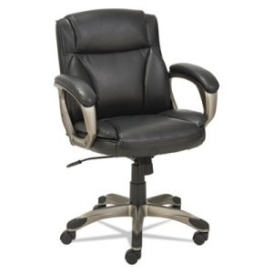 Alera Veon Low-Back Leather Task Chair w/ Spring Cushioning, Black (ALEVN6119)