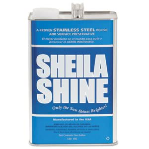 Sheila Shine Stainless Steel Cleaner & Polish, 4 Gallon Cans (SSISSCA128)