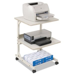 Balt Dual Laser Printer Stand, 3-Shelf, 24w x 24d x 33h, Gray (BLT23701)