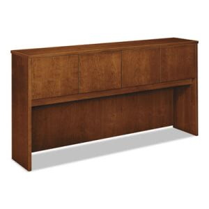 Basyx Wood Veneer Hutch With Wood Doors, 72w x 14-5/8d x 37-1/8h, Bourbon Cherry (BSXBW2180HH)