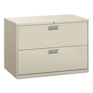 Hon 600 Series 2-Drawer Lateral File, 42w x 28-3/8h, Light Gray (HON692LQ)