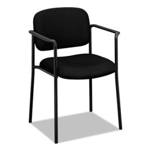 Basyx Stacking Guest Chair with Arms, Steel, Black (BSXVL616VA10)