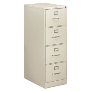 Hon 310 Series Four-Drawer, Full-Suspension File, Legal, 26-1/2d, Light gray (HON314CPQ)