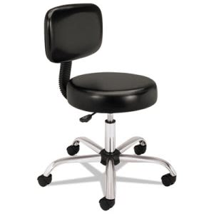 Hon Medical Exam Stool with Back, 24-1/4 x 27-1/4 x 36, Black (HONMTS11EA11)