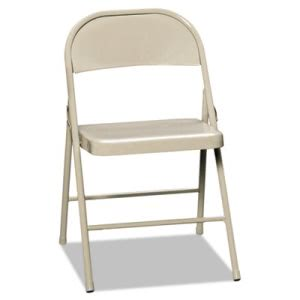 Hon All-Steel Folding Chairs, Light Beige, 4/Carton (HONFC01LBG)
