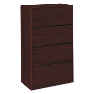 Hon 10700 Series Four-Drawer Lateral File, 36w x 20d x 59-1/8h, Mahogany (HON107699NN)