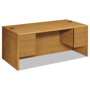 Hon 10700 Series Desk, 3/4-Height Double Pedestals, 72w x 36d x 29-1/2h, Harvest (HON10791CC)