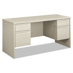 Hon 38000 Series Kneespace Credenza, 60w x 24d x 29-1/2h, Light Gray/Light Gray (HON38852QQ)