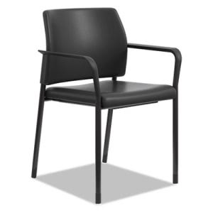 Hon Accommodate™ Series Guest Chair with Fixed Arms, Black Vinyl (HONSGS6FBEE11B)