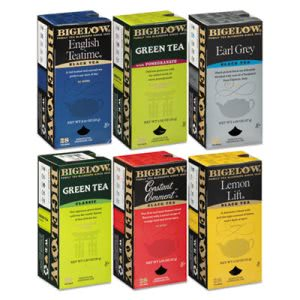 Bigelow Assorted Tea Packs, 6 Flavors, 28 Tea Bags/Flavor, 6 Flavors (BTC15577)