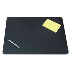 Designer Desk Pad w/Decorative Stitching, 24 x 19, Blk (AOP510041)