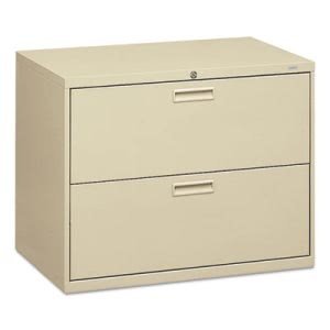 Hon 500 Series Two-Drawer Lateral File, 36w x28-3/8h x19-1/4d, Putty (HON582LL)