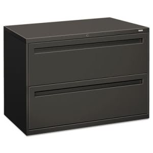 Hon 700 Series 2-Drawer Lateral File, 42w x 19-1/4d, Charcoal (HON792LS)