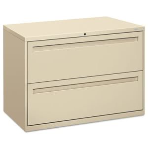 Hon 700 Series Two-Drawer Lateral File, 42w x 19-1/4d, Putty (HON792LL)