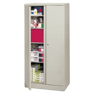 Basyx Easy-to-Assemble Storage Cabinet, 36w x 18d x 72h, Gray (BSXC187236Q)