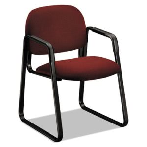 Hon Solutions Seating Sled Base Guest Chair, Burgundy (HON4008AB62T)