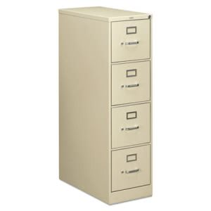 Hon 210 Series 4-Drawer, Full-Suspension File, 28-1/2d, Putty (HON214PL)