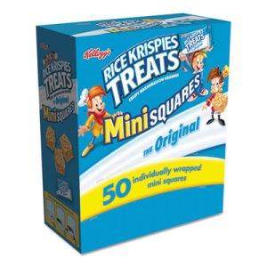 Kellogg's Rice Krispies Treats, Mini Squares, 0.39 oz, 50/Box (KEB12061)