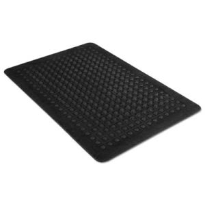 "Guardian Rubber Anti-Fatigue Mat, Polypropylene, 24""x36"", Black (MLL24020300)"