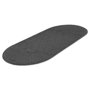 Guardian EcoGuard Double Fan Diamond Floor Mat, 36x96, Charcoal (MLLEGDDF030804)