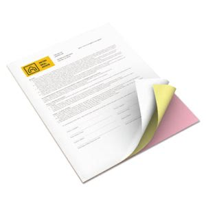 Premium Digital Carbonless Paper,  Pink/Canary/White, 1,670 Sets (XER3R12424)