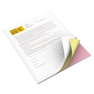 Xerox Premium Digital Carbonless Paper, White/Canary/Pink, 835 Sets (XER3R12426)