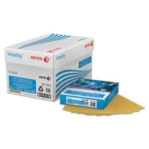 Xerox Pastel Colored Paper, 20-lb, Letter, Gold, 500 Sheets (XER3R11055)