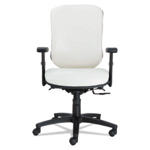 Alera Eon Series Multifunction Mid-Back Stain Resistant Chair, White (ALEEN4206)