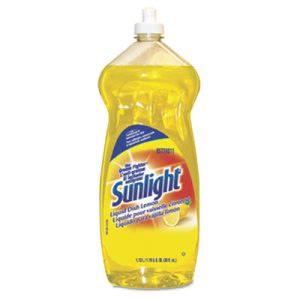 Sunlight Dishwashing Liquid, Lemon, 38-oz. Bottle (DVO95729811EA)