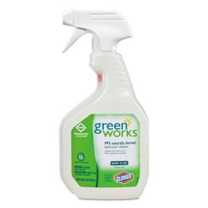 Clorox Green Works Bathroom Cleaner, 12 Trigger Spray Bottles (CLO00452CT)