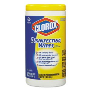 Clorox 15948 Disinfecting Wet Wipes, Lemon Fresh Scent, 6 Canisters (CLO15948CT)
