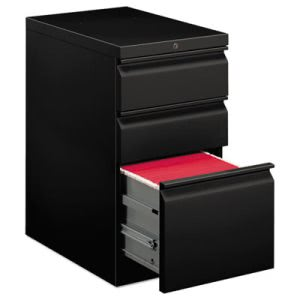 Hon Efficiencies Mobile Pedestal File with One File/Two Box Drawers, 22-7/8d, Black (HON33723RP)