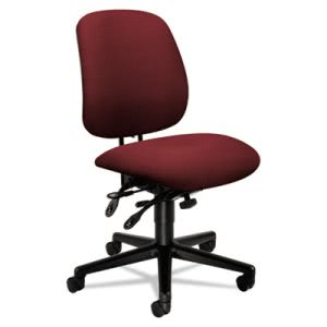 Hon 7700 Series Asynchronous Swivel/Tilt Task Chair, Seat Glide, Burgundy (HON7708AB62T)