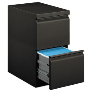 Hon Efficiencies Mobile Pedestal File w/Two File Drawers, 22-7/8d, Charcoal (HON33823RS)