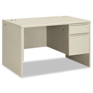 Hon 38000 Series Right Pedestal Desk, 48w x 30d x 29-1/2h, Light Gray/Light Gray (HON38251QQ)