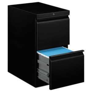 Hon Mobile Pedestal File w/Two File Drawers, 22-7/8d, Black (HON33823RP)